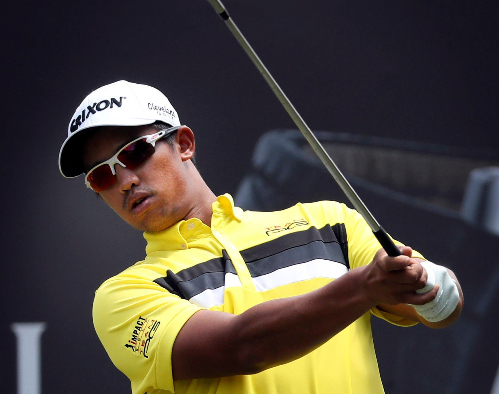"""FILE - In this Friday, Feb. 10, 2017 file photo, Arie Irawan of Malaysia tees off during the second day of the Maybank Championship golf tournament in Kuala Lumpur, Malaysia. Officials at the Sanya Championship said Sunday, April 7, 2019 that 28-year-old Malaysian golfer Arie Irawan died in his hotel room from """"apparent natural causes,"""" and the PGA Tour Series-China canceled the final round of the tournament. The PGA Tour Series-China said in a statement that Irawan missed the 36-hole cut Friday in the tournament at Sanya Yalong Bay Golf Club. It said the official coroner's report had not been completed. (AP Photo/Daniel Chan, file)"""