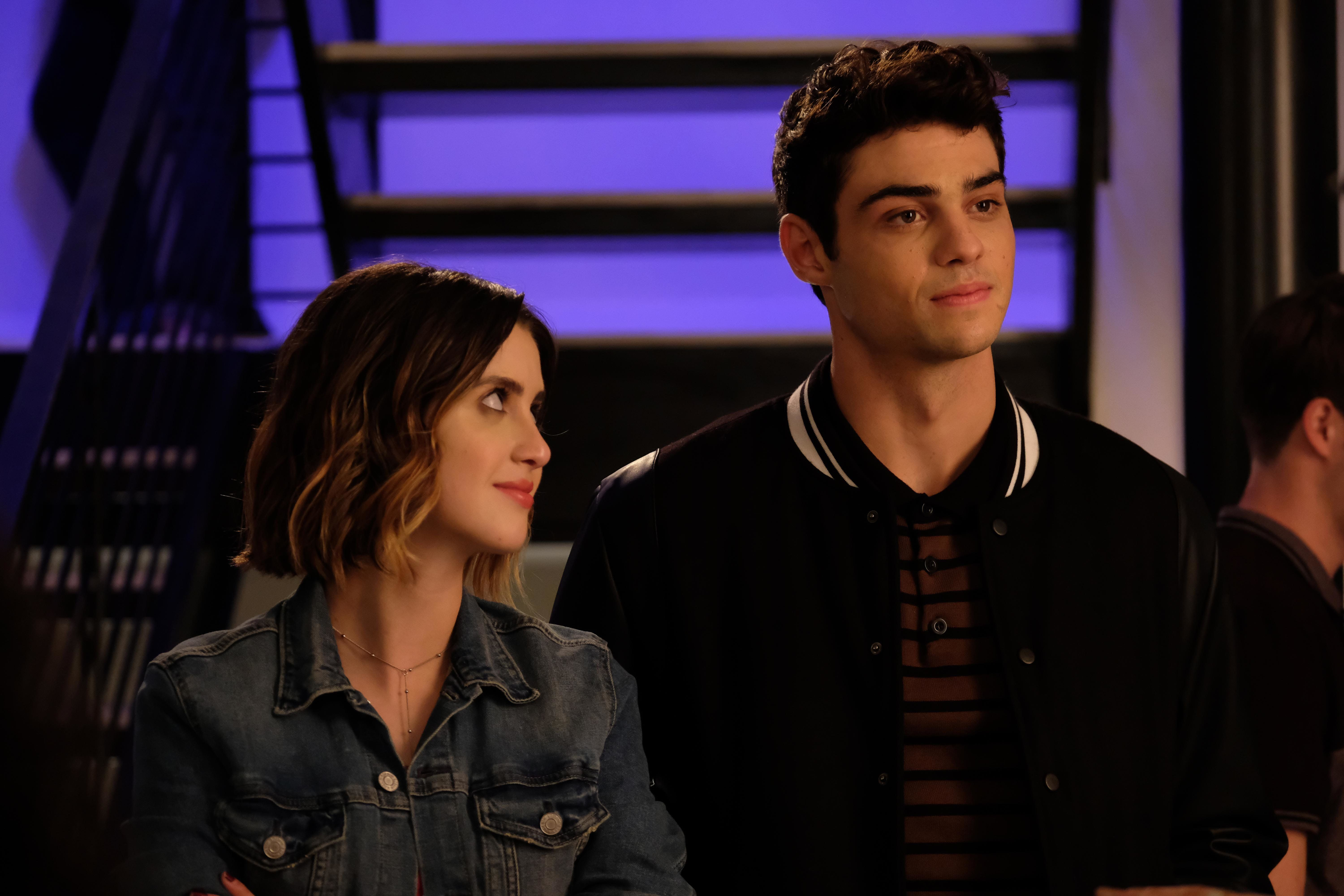 "Laura Marano and Noah Centineo in ""The Perfect Date"" on Netflix."
