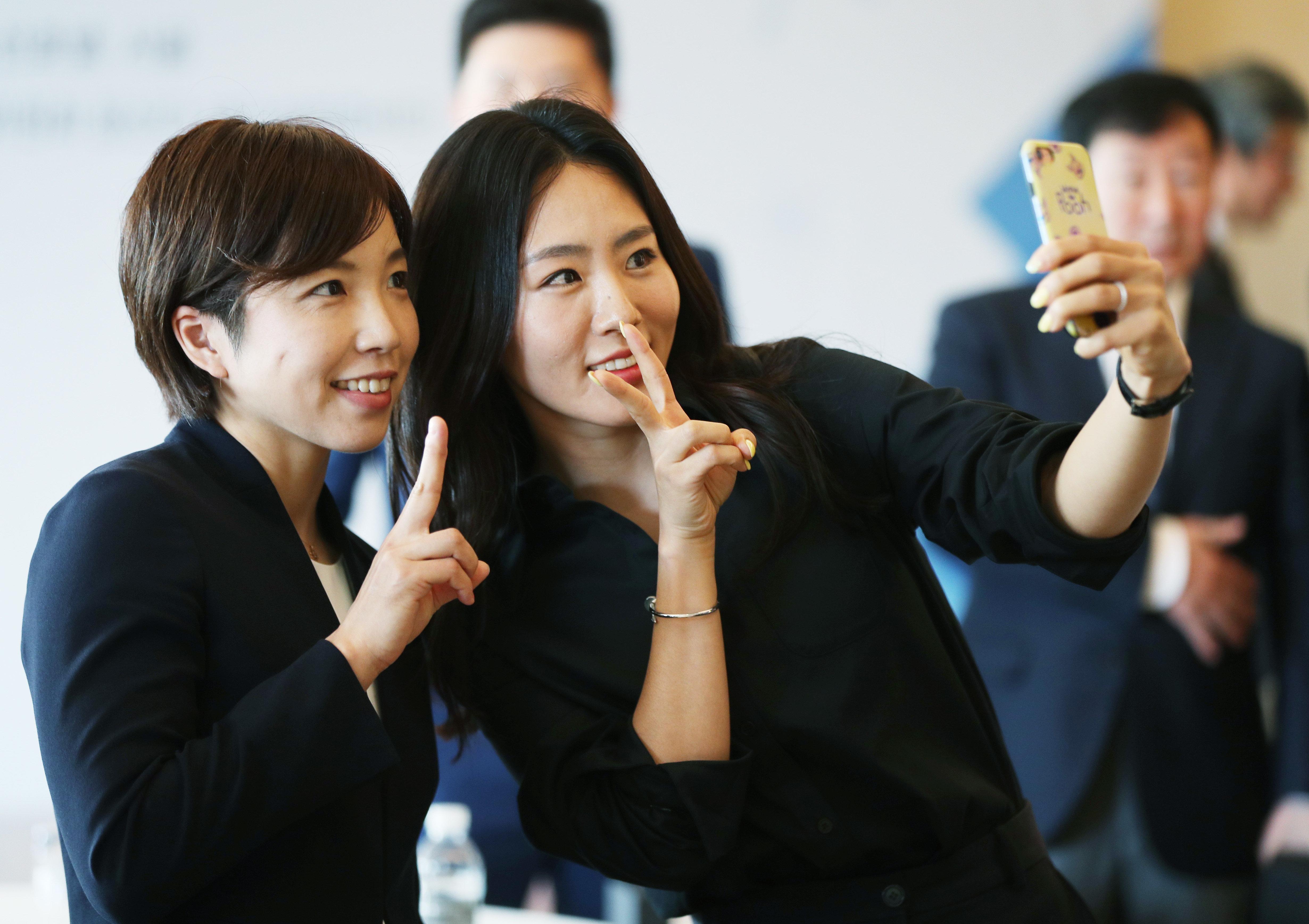 이상화와 고다이라 나오가 한국에서