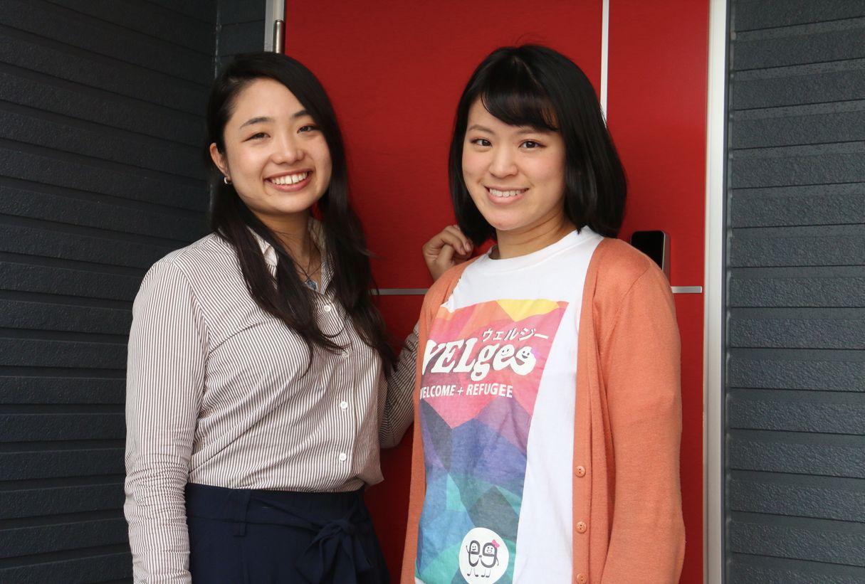 NPO法人WELgee 渡部清花さん(左)、山本菜奈さん(右)