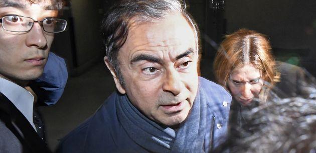Carlos Ghosn, ici le 3 avril à Tokyo, a étérévoqué par les actionnaires...