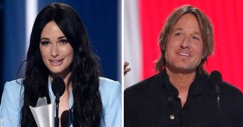 Kacey Musgraves, left, won three honors including female artist of the year. Keith Urban, right, was named entertainer of the