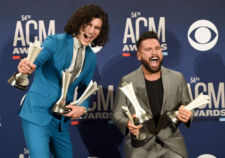 Country music duo Dan + Shay took home the ACM Awards for song of the year as well as single of the year for their hit song &