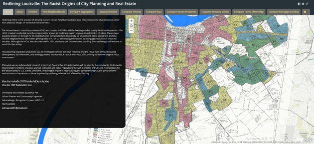 데이터에 근거한 인종차별적인 도시정책의 대표적인 사례, 레드라인의
