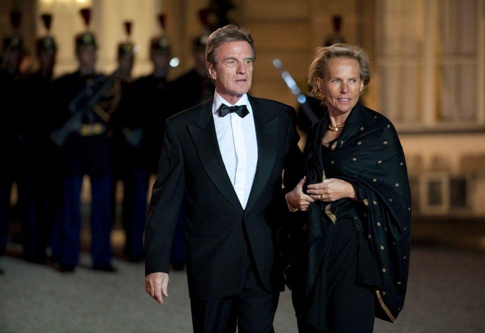Η Κριστίν Οκρέν με τον σύζυγός της Μπερνάρ Κουσνέρ.