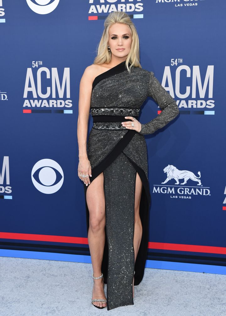 Underwood attends the 54th Academy of Country Music Awards at MGM Grand Garden Arena on April 7 in Las Vegas.