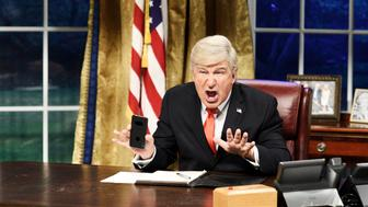SATURDAY NIGHT LIVE -- 'Sandra Oh' Episode 1762 -- Pictured: Alec Baldwin as Donald Trump during the 'Mueller Report' Cold Open on Saturday, March 30, 2019 -- (Photo by: Will Heath/NBC/NBCU Photo Bank via Getty Images)