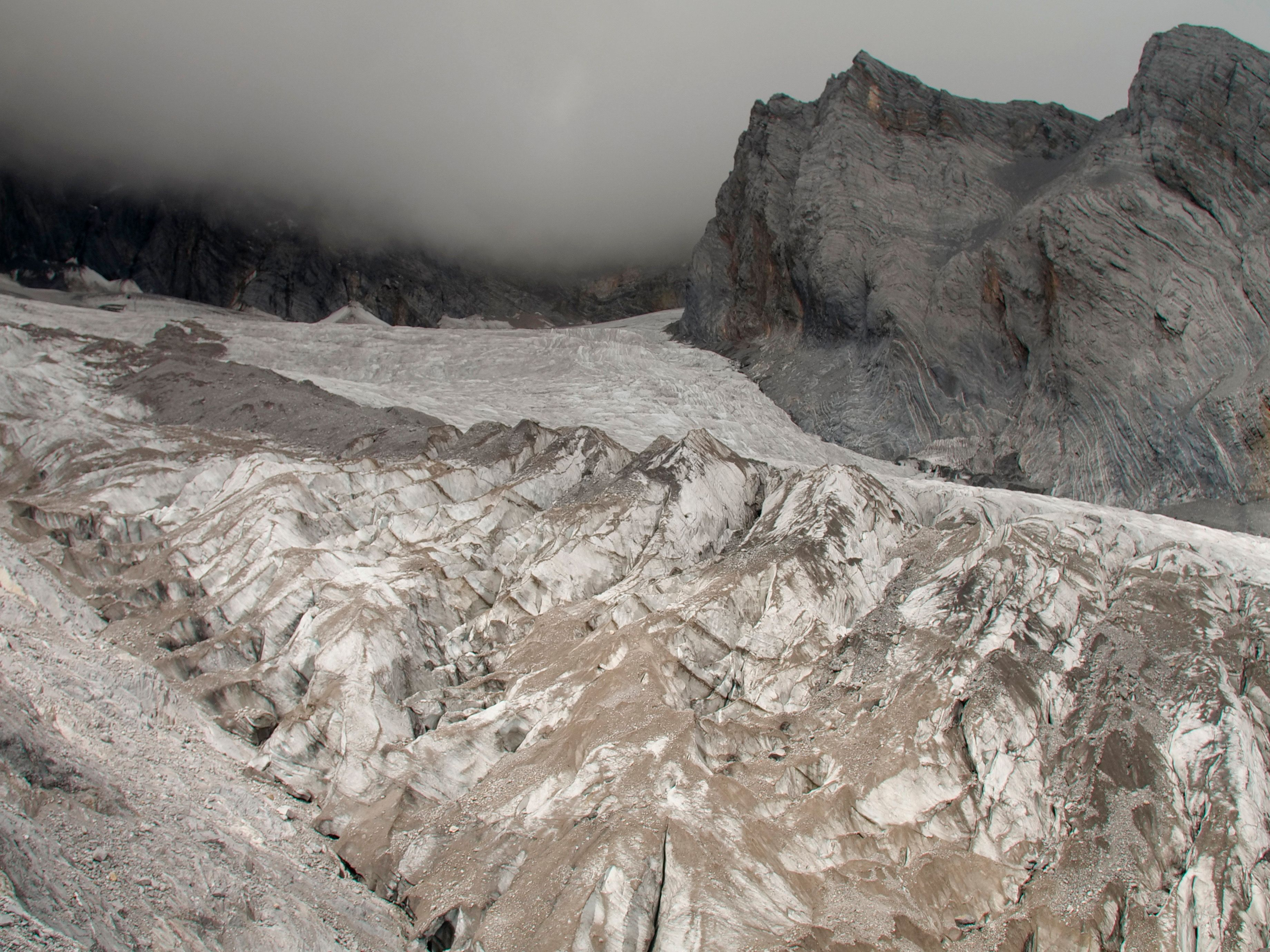 This Sept. 22, 2018 file photo shows the Baishui Glacier No.1 on the Jade Dragon Snow Mountain in the southern province of Yu
