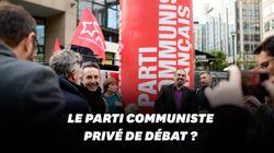 Devant les locaux de CNews, le PCF réclame sa place au débat télé des