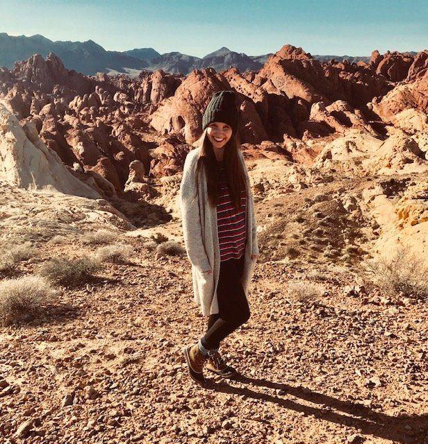 Designer Hannah Steininger tried online dating but met her current boyfriend through a friend.