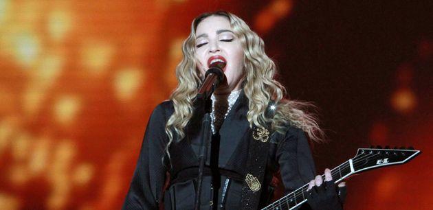 Madonna, ici le 20 janvier 2016 à Atlanta, se produira en Israël lors de la finale de