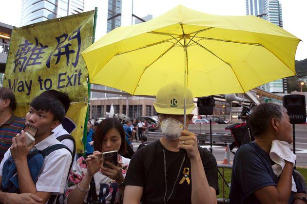 홍콩 '우산혁명' 지도부 9인이 전원 유죄판결을
