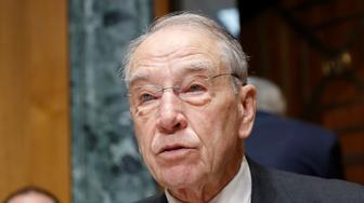 In this Feb. 26, 2019, Sen. Chuck Grassley, R-Iowa, speaks on Capitol Hill in Washington. As a deadline for voting looms, it's increasingly clear that Republican senators are so uncomfortable with President Donald Trump's use of executive power to build the wall with Mexico they're desperate to devise a way around it. (AP Photo/Pablo Martinez Monsivais)