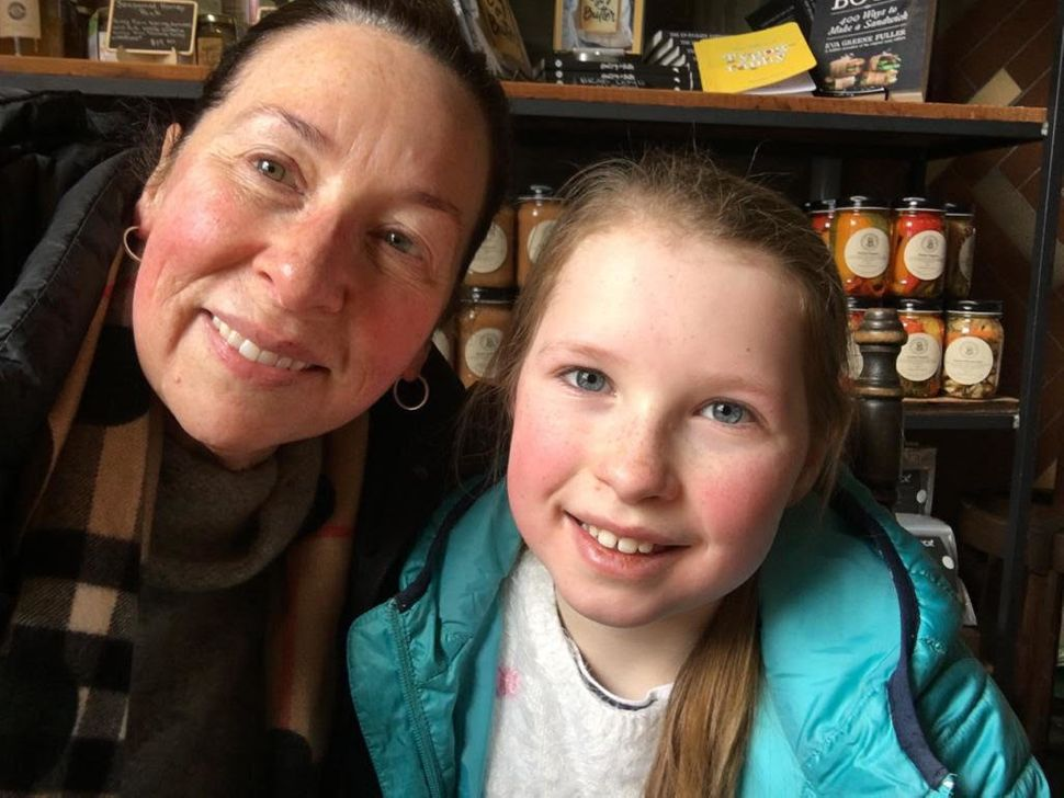 Jane Gibbon and her daughter Milly.