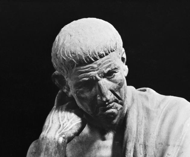 Portrait of Aristotle. Detail from Hellenistic Statue. Museo Nationale, Naples.