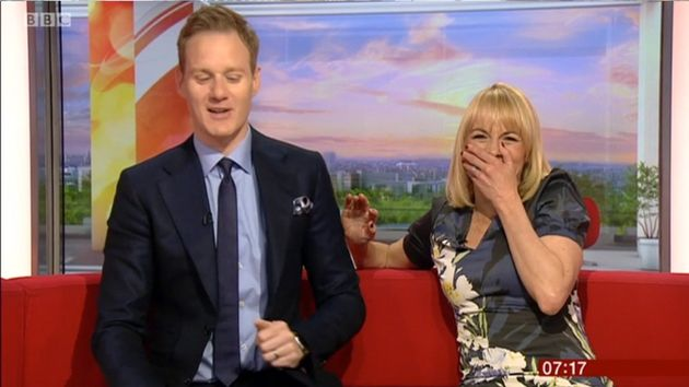 Louise with her BBC Breakfast co-host Dan