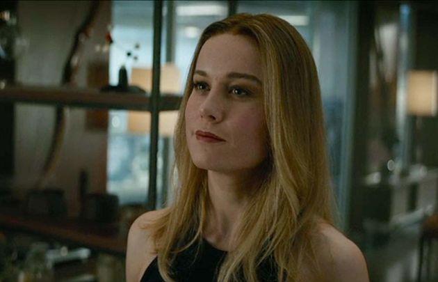 Capitã Marvel (Brie Larson) bota banca e diz que desfazer o mal causado por Thanos é