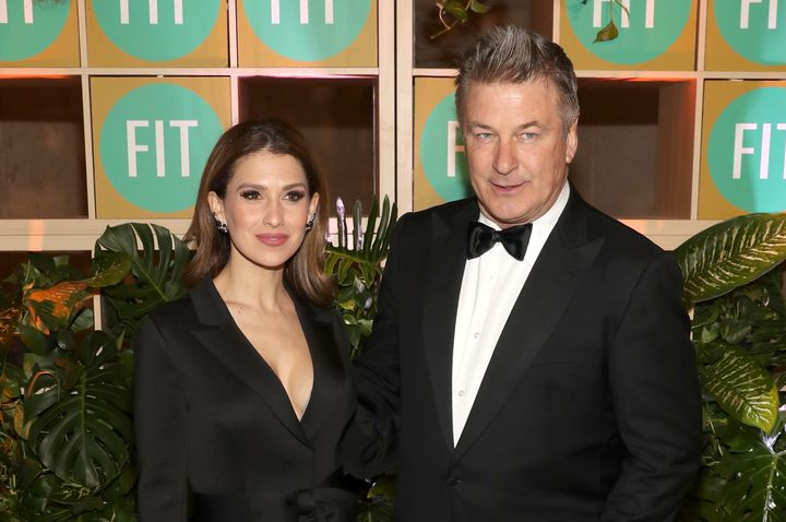Hilaria and Alec Baldwin attend FIT's 2019 Annual Awards Gala on April 3 in New York City.