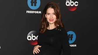 Hilaria Baldwin attends the Disney/ABC/Freeform 2018 Upfront Party at Tavern on the Green on Tuesday, May 15, 2018, in New York. (Photo by Andy Kropa/Invision/AP)