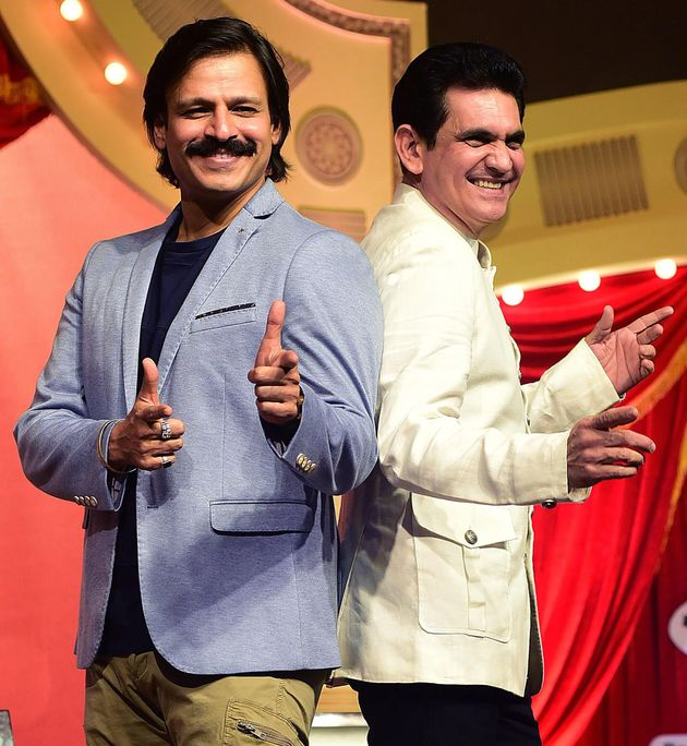 A file photo of actor Vivek Oberoi (left) and director Omung