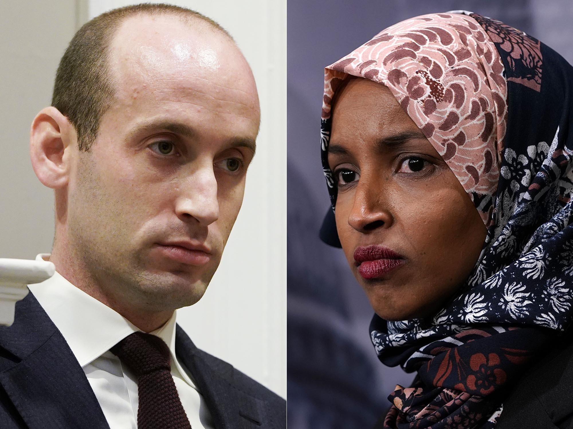 Rep. Ilhan Omar Calls Stephen Miller 'A White