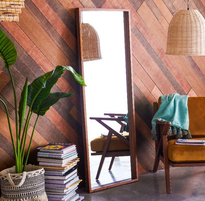 Wood Leaner Mirror by Drew Barrymore Flower Home