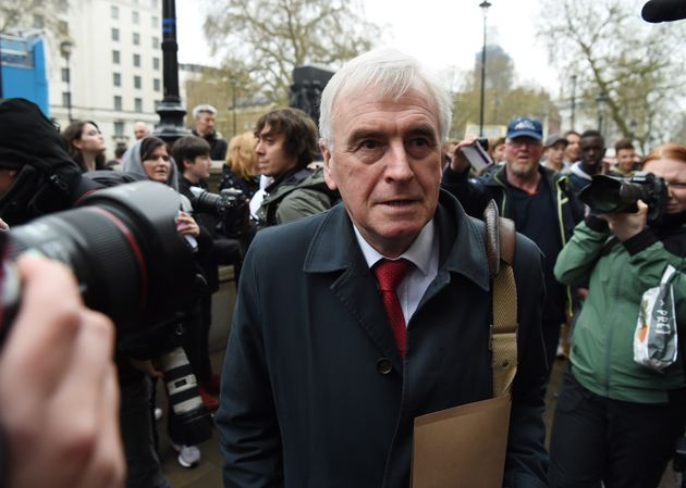 Shadow chancellor John McDonnell at the