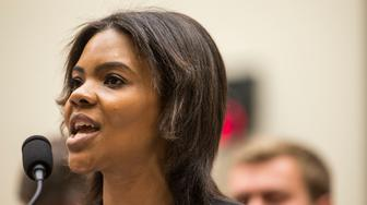 WASHINGTON, DC - APRIL 09: Candace Owens of Turning Point USA testifies during a House Judiciary Committee hearing discussing hate crimes and the rise of white nationalism on Capitol Hill on April 9, 2019 in Washington, DC. Internet companies have come under fire recently for allowing hate groups on their platforms. (Photo by Zach Gibson/Getty Images)
