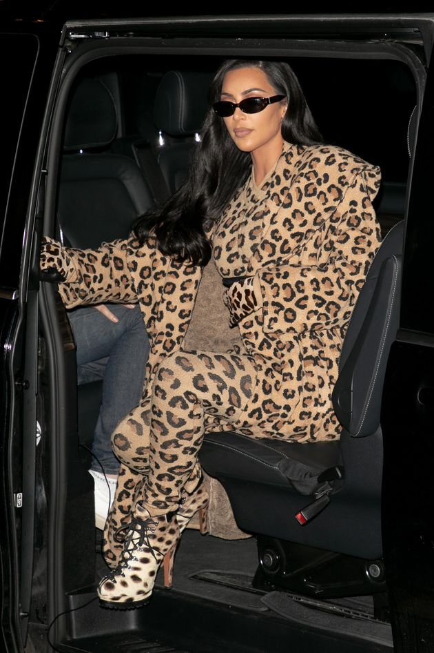 Kardashian is seen arriving at the Costes Hotel on March 5 in