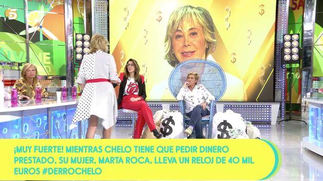 Monumental bronca en 'Sálvame' (Telecinco):