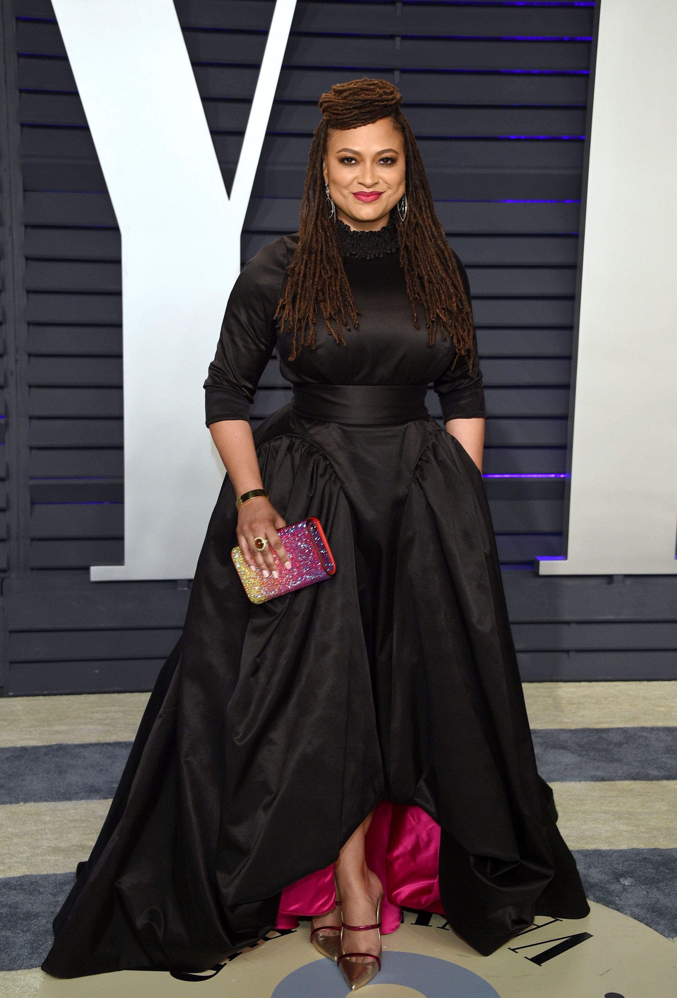 Ava DuVernay arrives at the Vanity Fair Oscar Party on Sunday, Feb. 24, 2019, in Beverly Hills, Calif. (Photo by Evan Agostini/Invision/AP)