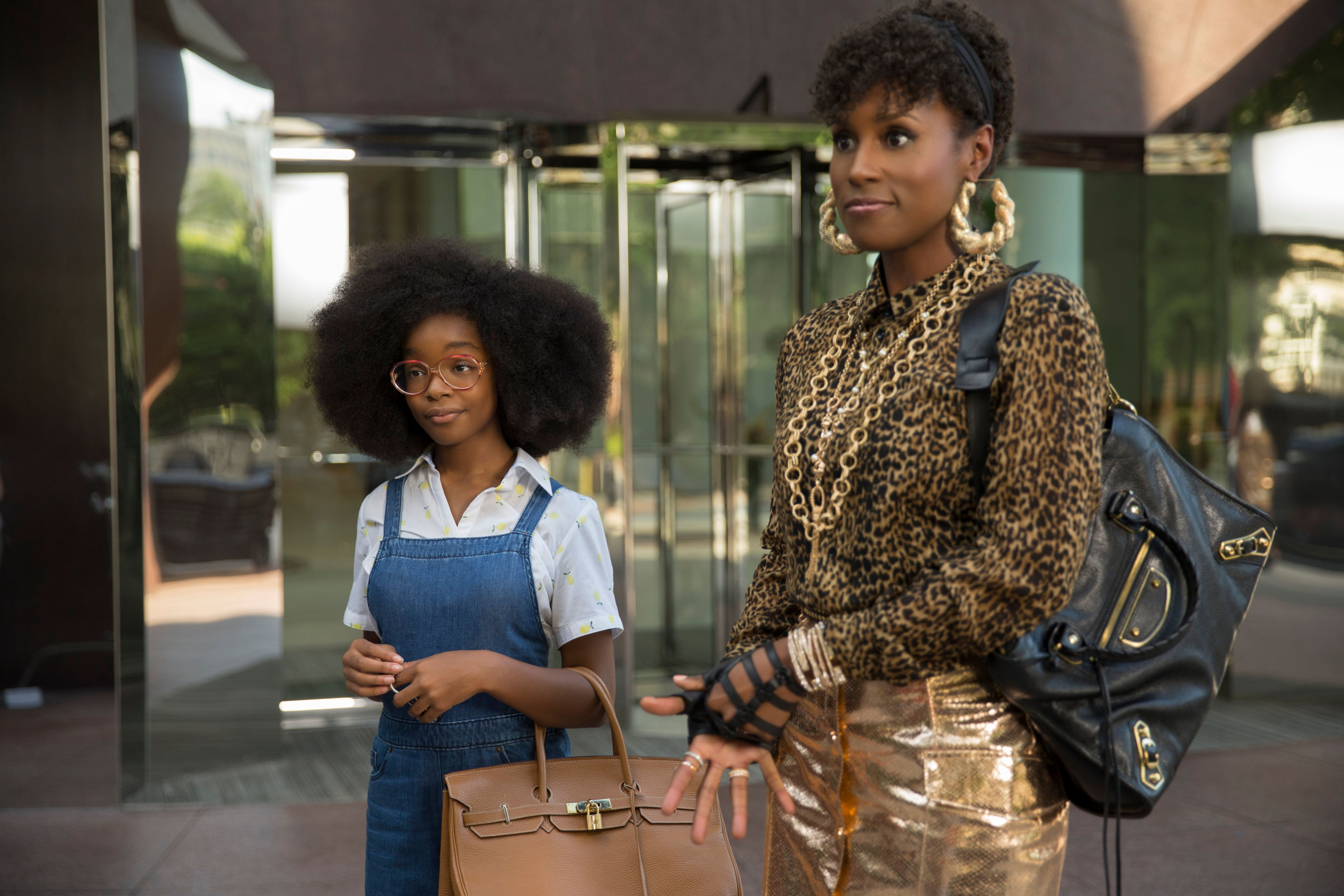 """Marsai Martin and Issa Rae in """"Little,"""" opening Friday."""