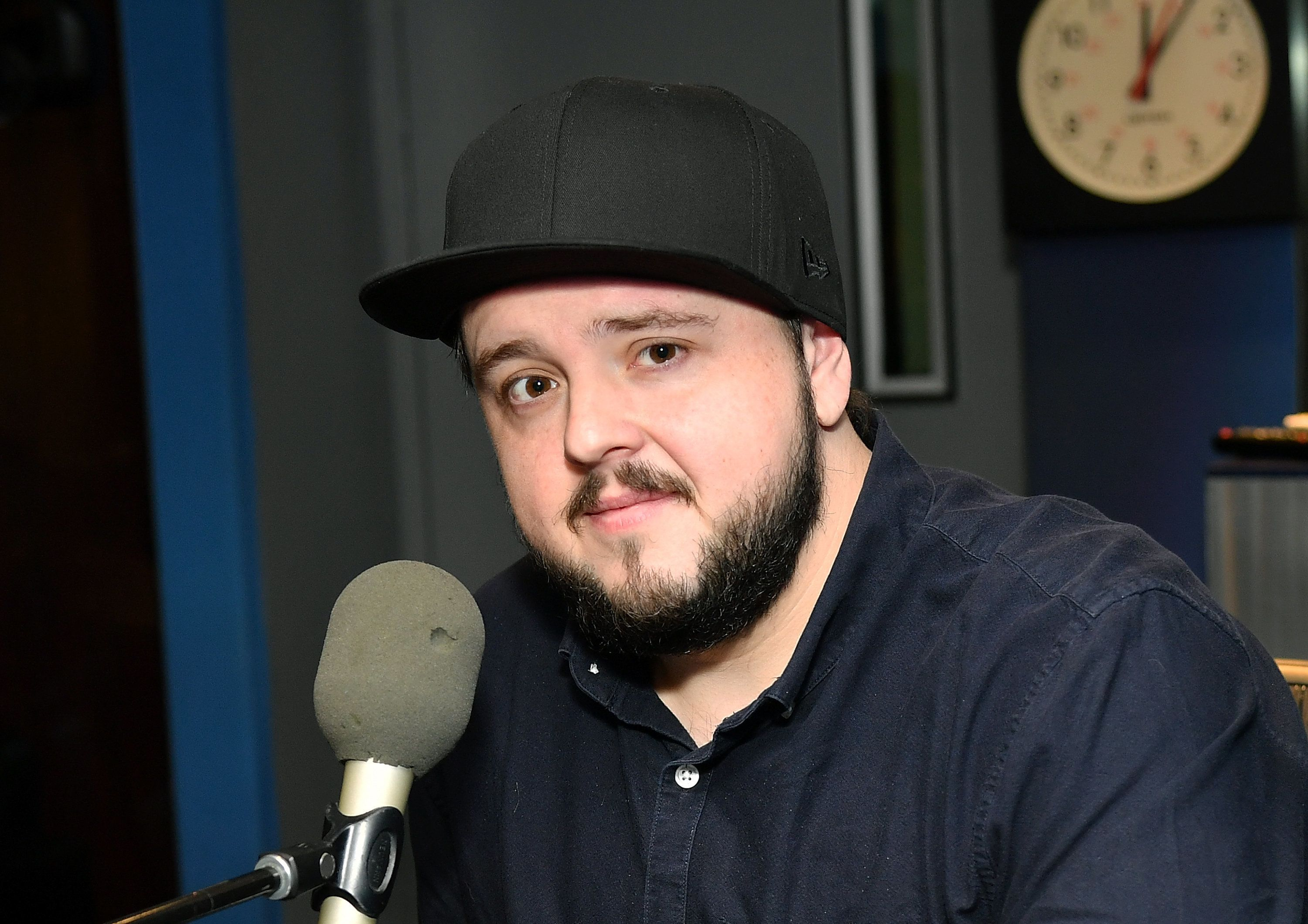 NEW YORK, NY - APRIL 05:  (EXCLUSIVE COVERAGE) Actor John Bradley visits Larry Fink at SiriusXM Studios on April 5, 2019 in New York City.  (Photo by Slaven Vlasic/Getty Images)
