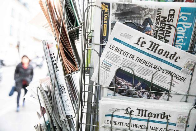 La distribution de journaux perturbée par une grève (Photo