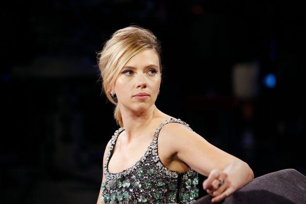 Scarlett during the taping ofJimmy Kimmel