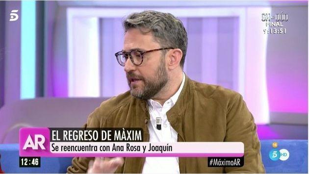 Màxim Huerta revela en 'El programa de Ana Rosa' (Telecinco) a qué partidos votará en las