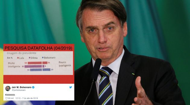 Bolsonaro usa Twitter para ironizar a