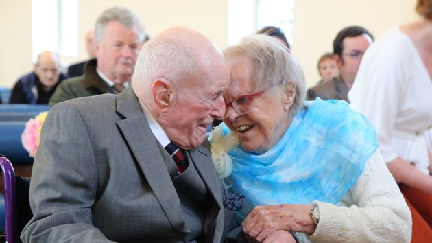 Peter Van Zeller and Nancy Bowstead celebrated their love with a ceremony at the Blind Veterans UK chapel...