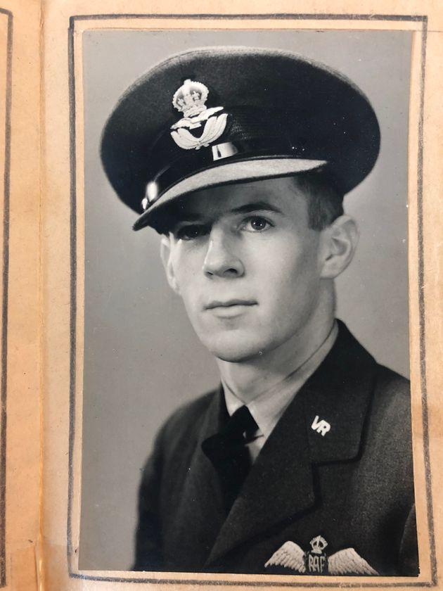 Peter Van Zeller in his RAF uniform during the Second World