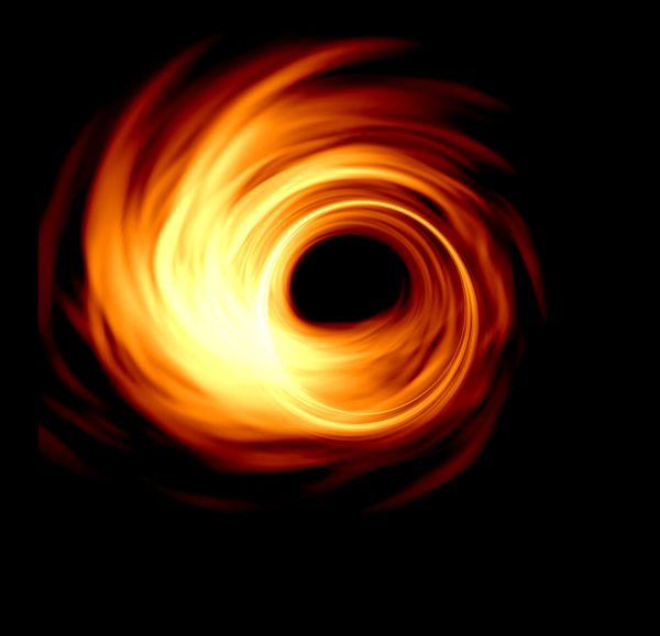Une simulation de trou noir par