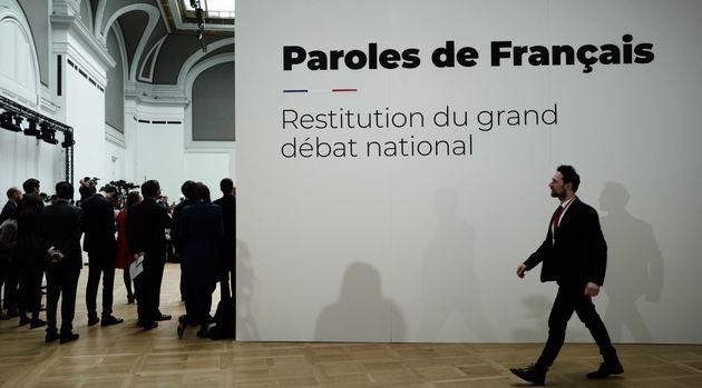 Restitution du Grand débat national au Grand Palais, le 8 avril