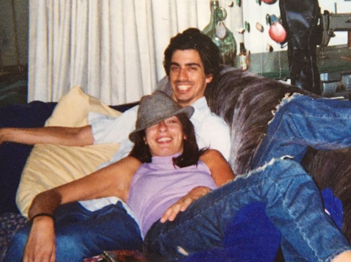 The early days: Arianna and Steve at a friend's apartment in 2003.
