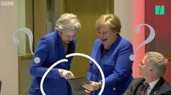 Mais qu'est-ce qui a tant fait rire Merkel et May au sommet