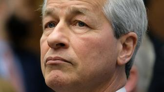 WASHINGTON, DC - APRIL 10: Jamie Dimon, chief executive officer of JPMorgan Chase & Co., listens during a House Financial Services Committee hearing  on April 10, 2019 in Washington, DC. Seven CEOs of the country's largest banks were called to testify a decade after the global financial crisis.  (Photo by Alex Wroblewski/Getty Images)