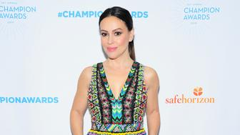 NEW YORK, NY - APRIL 9: Alyssa Milano attends Safe Horizon's Champion Awards at The Ziegfeld Ballroom on April 9, 2019 in New York. (Photo by Owen Hoffmann/PMC)