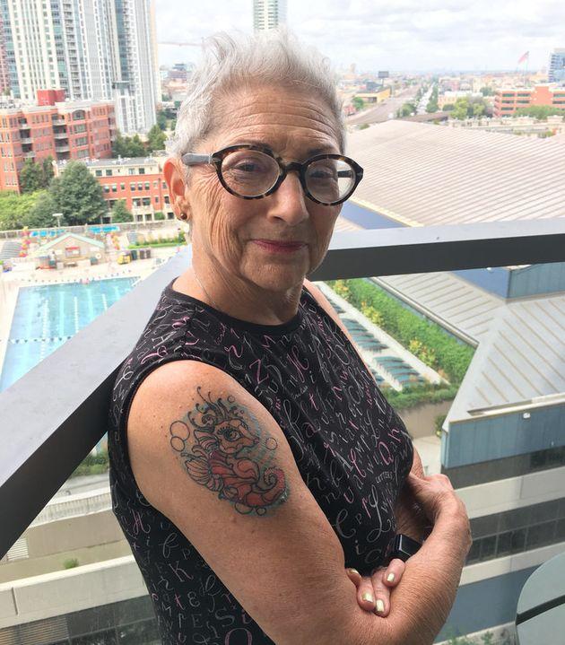 タツノオトシゴのグラシエラ。80歳の誕生日の前に入れたタトゥーです