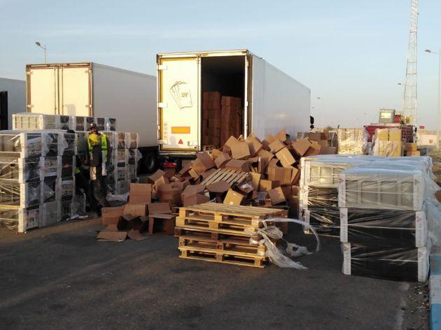 Guergarate: Près de 12 tonnes de haschich saisies à bord d'un