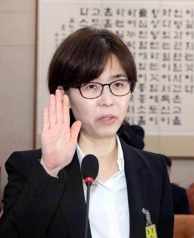 야당은 '이미선 헌법재판관 후보자 부적격'으로 입을