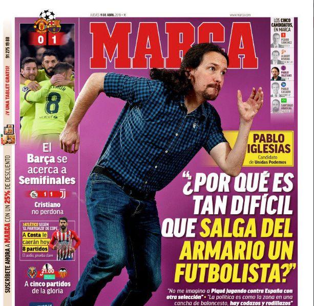 Cachondeo con un detalle de la entrevista de 'Marca' a Pablo