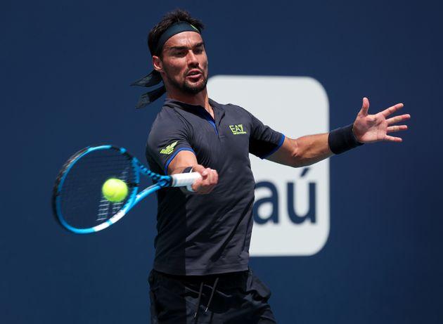 À Marrakech, ce tennisman italien énervé casse deux raquettes